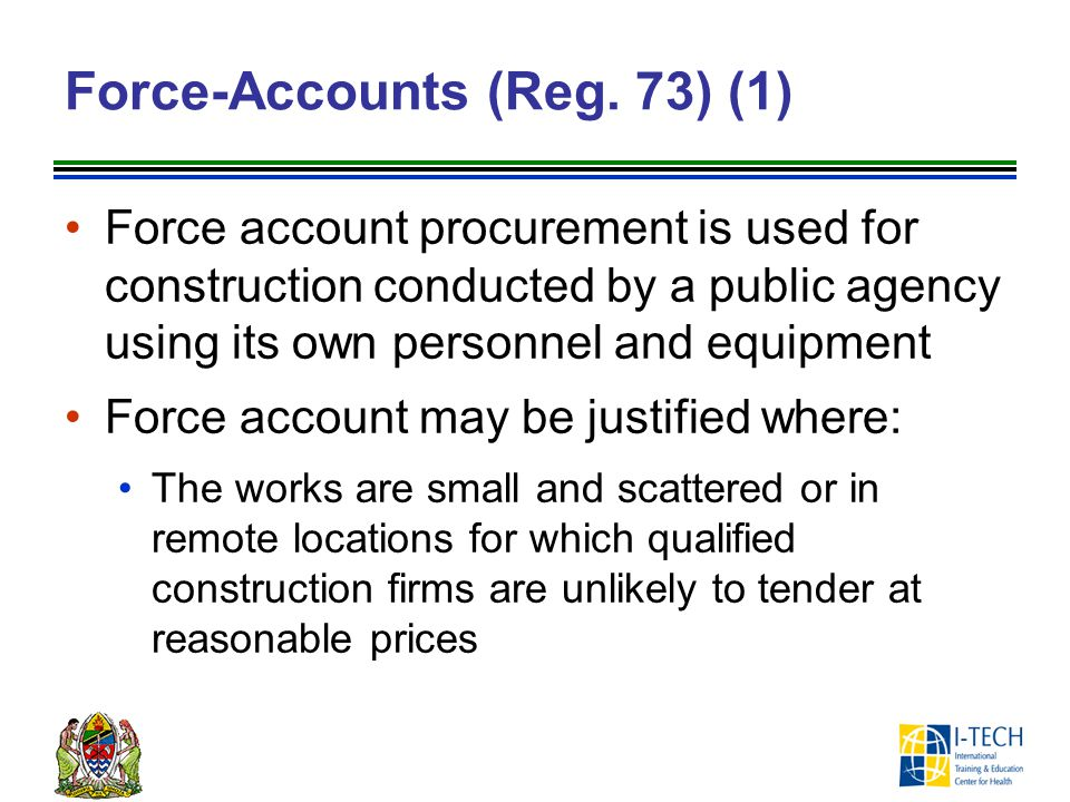Force-Accounts (Reg. 73) (1)