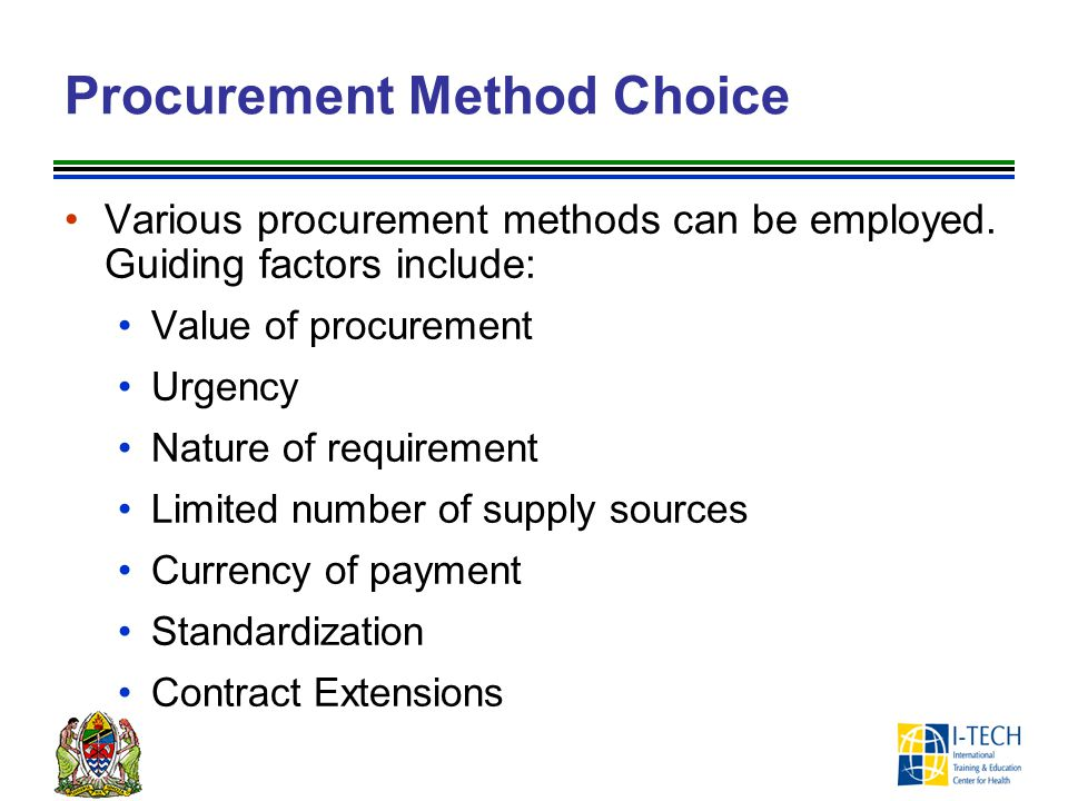 Procurement Method Choice