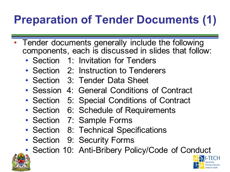 Preparation of Tender Documents (1)