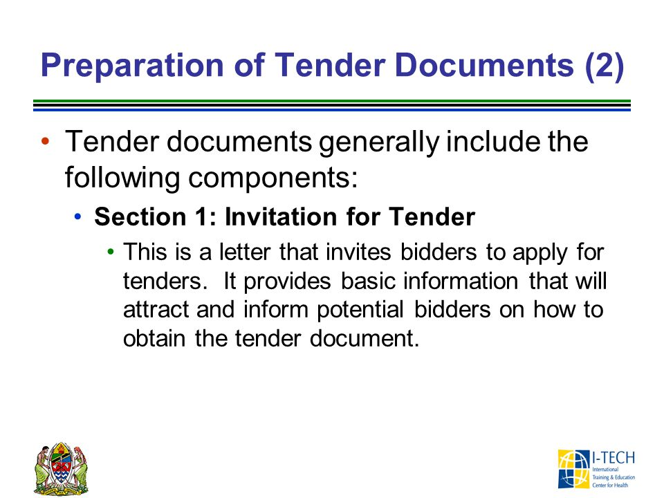 Preparation of Tender Documents (2)