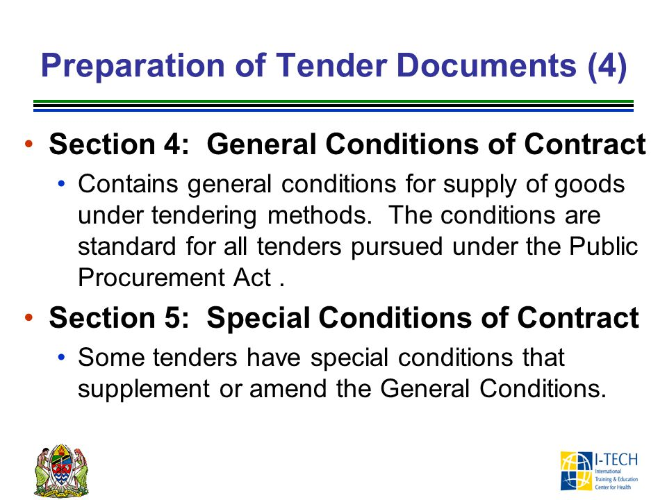 Preparation of Tender Documents (4)