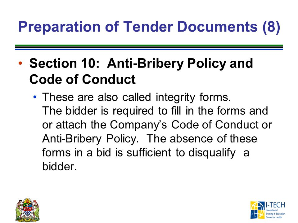 Preparation of Tender Documents (8)