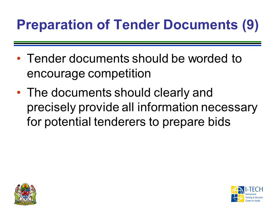 Preparation of Tender Documents (9)