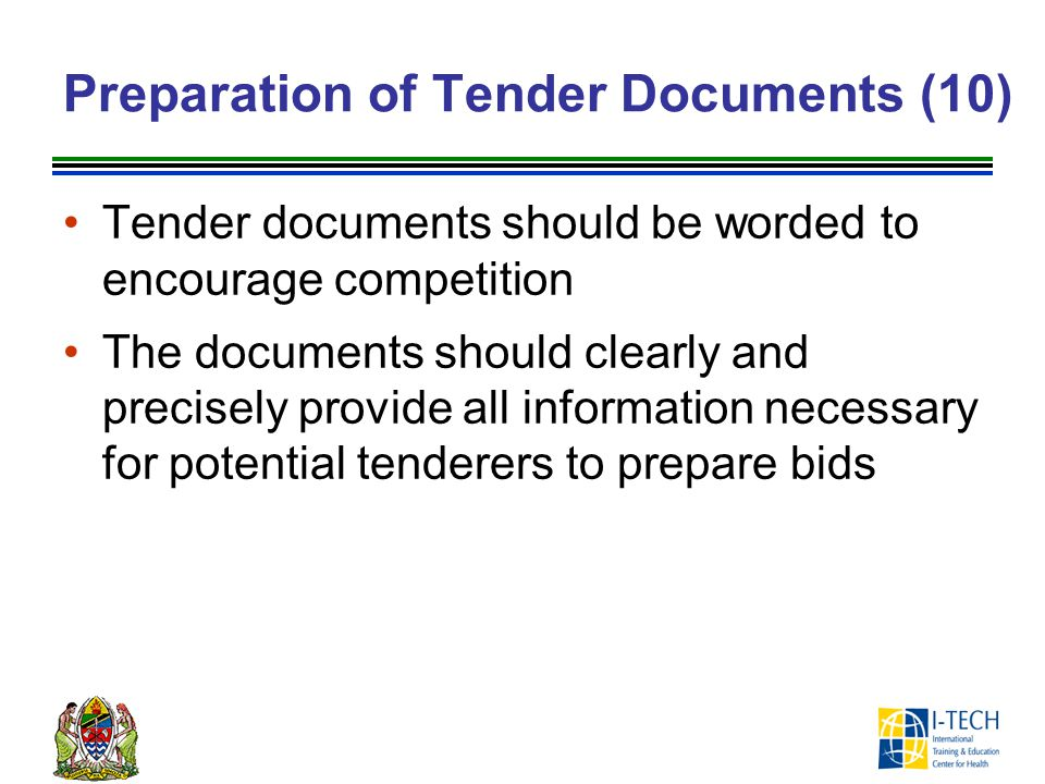 Preparation of Tender Documents (10)