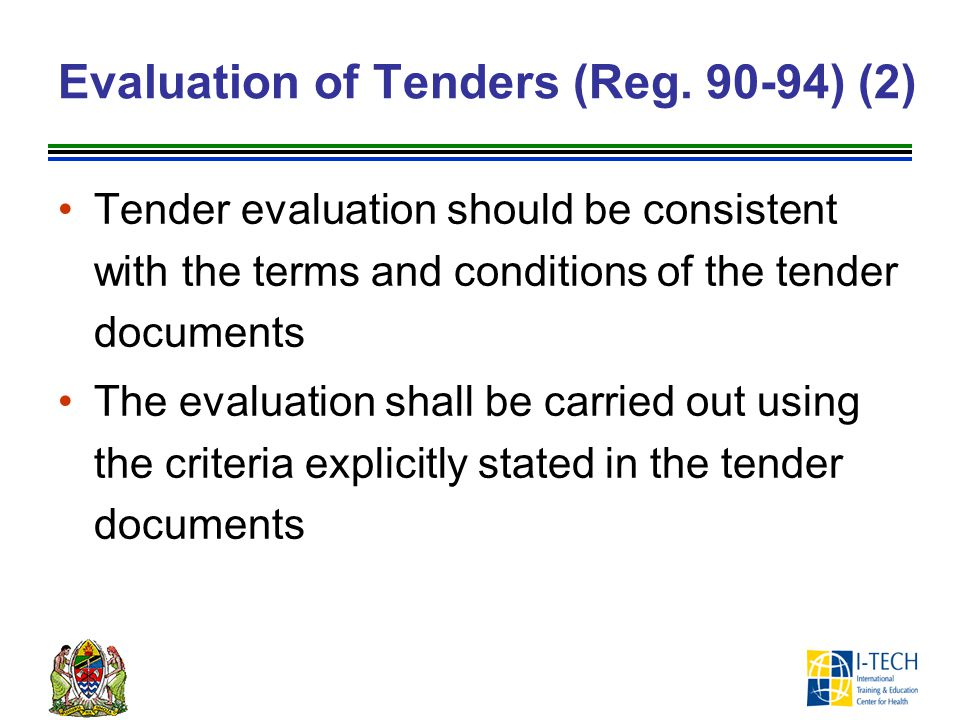 Evaluation of Tenders (Reg. 90-94) (2)