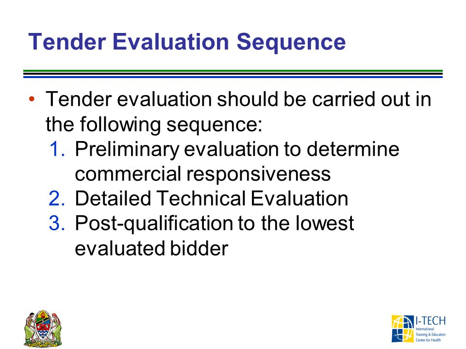 Tender Evaluation Sequence