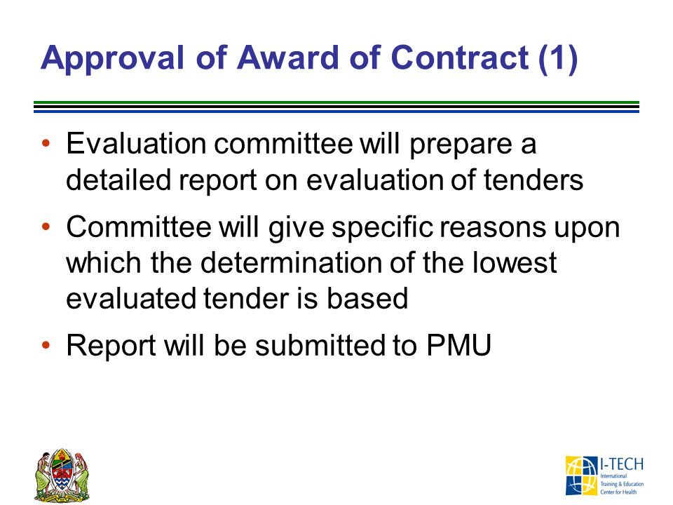 Approval of Award of Contract (1)