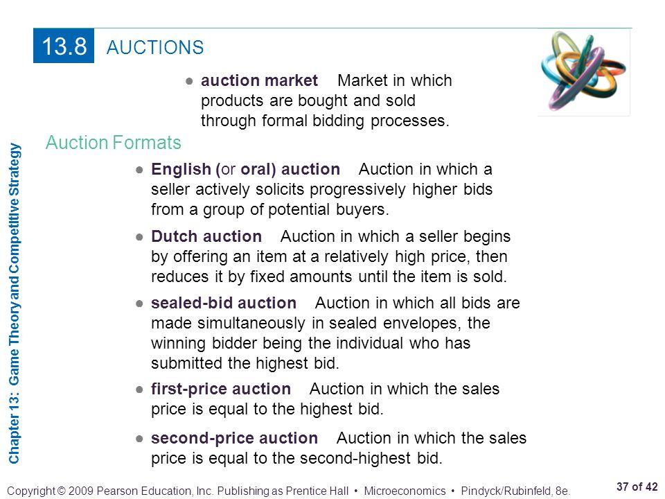 13.8 AUCTIONS Auction Formats