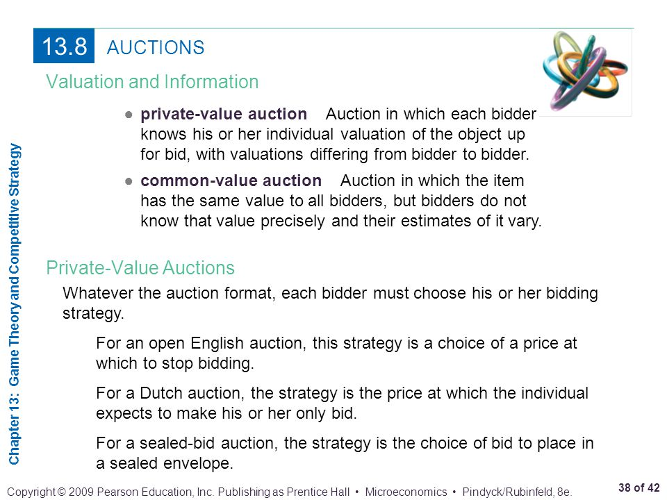13.8 AUCTIONS Valuation and Information Private-Value Auctions