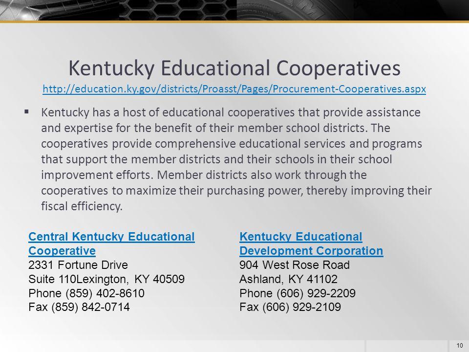 Kentucky Educational Cooperatives http://education. ky