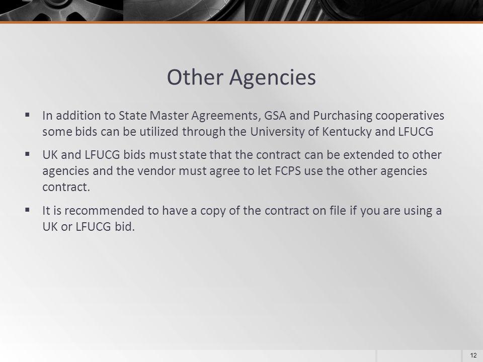 Other Agencies