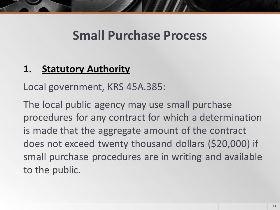 Small Purchase Process