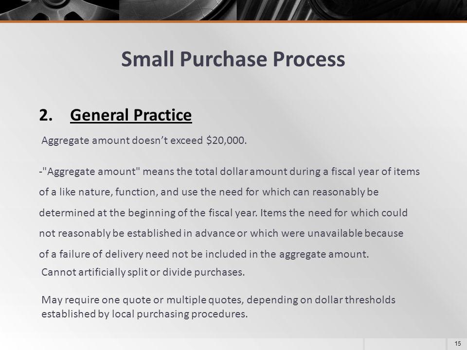 Small Purchase Process
