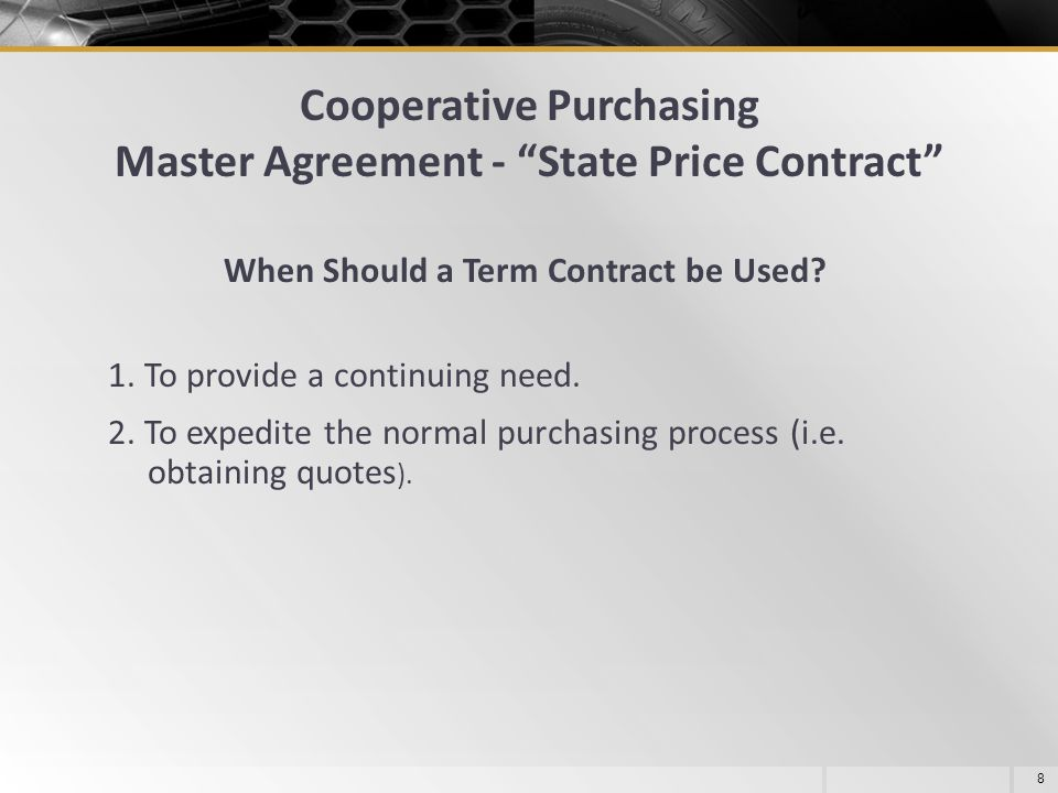 Cooperative Purchasing Master Agreement - State Price Contract
