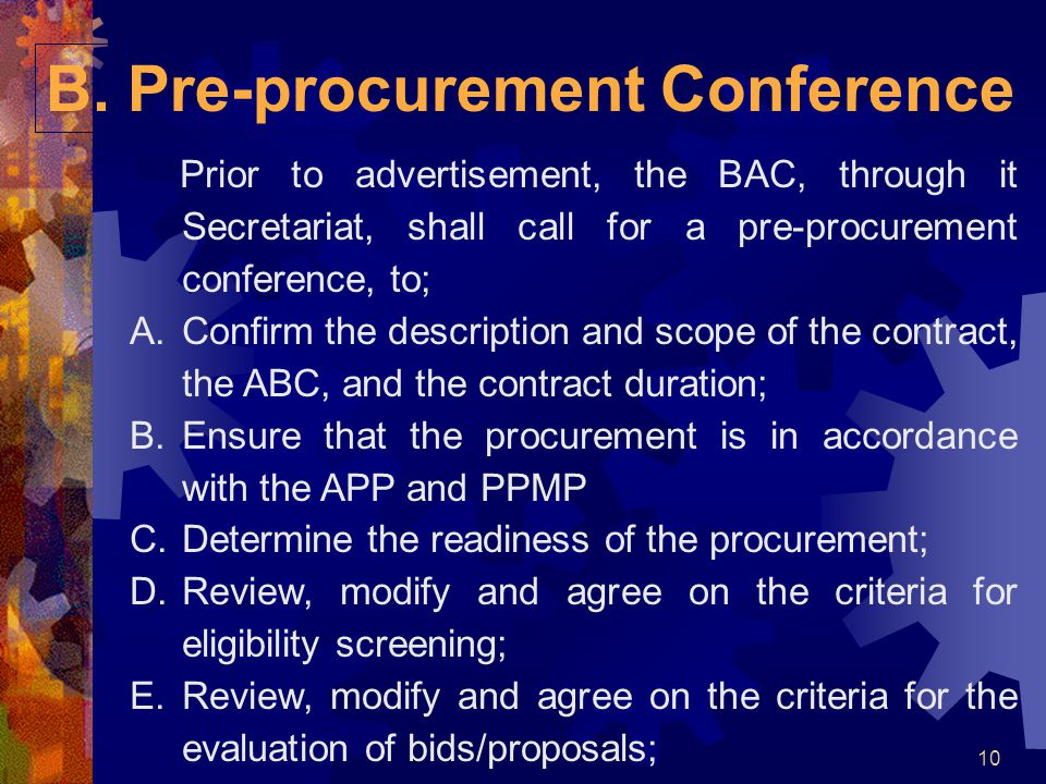 B. Pre-procurement Conference