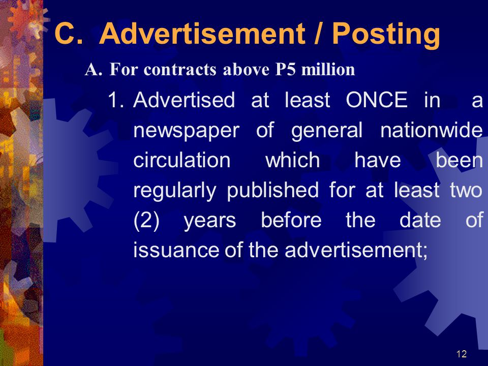 C. Advertisement / Posting