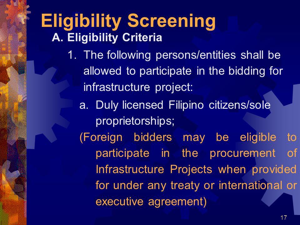 Eligibility Screening