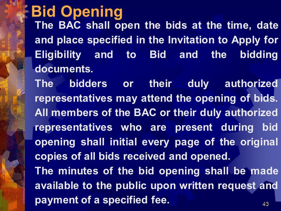 Bid Opening