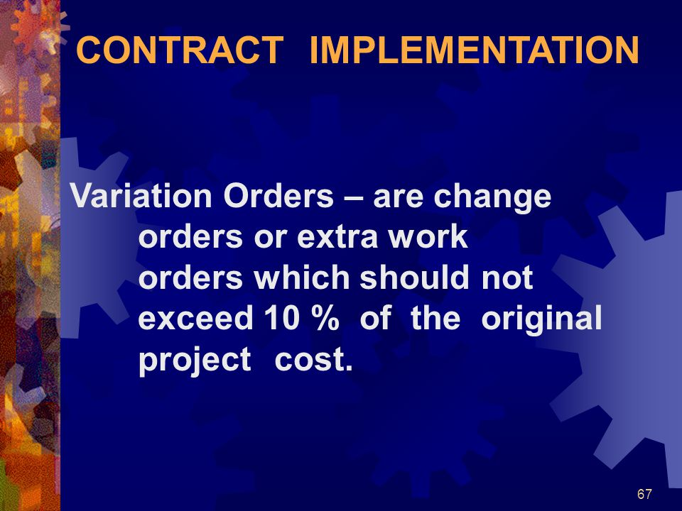 CONTRACT IMPLEMENTATION