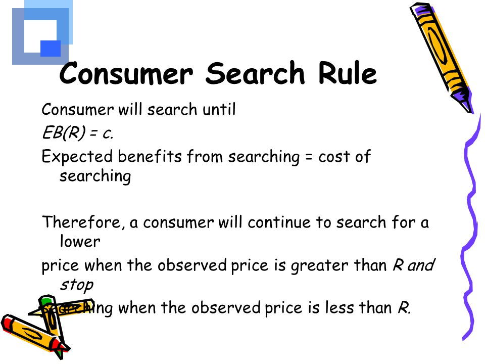 Consumer Search Rule