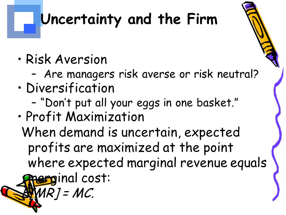 Uncertainty and the Firm