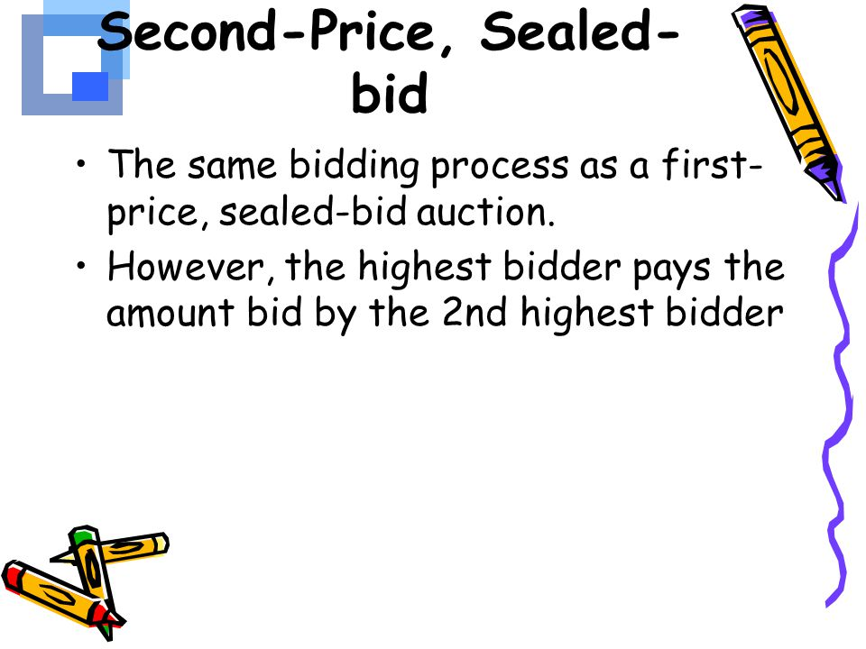 Second-Price, Sealed-bid