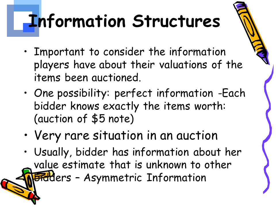 Information Structures