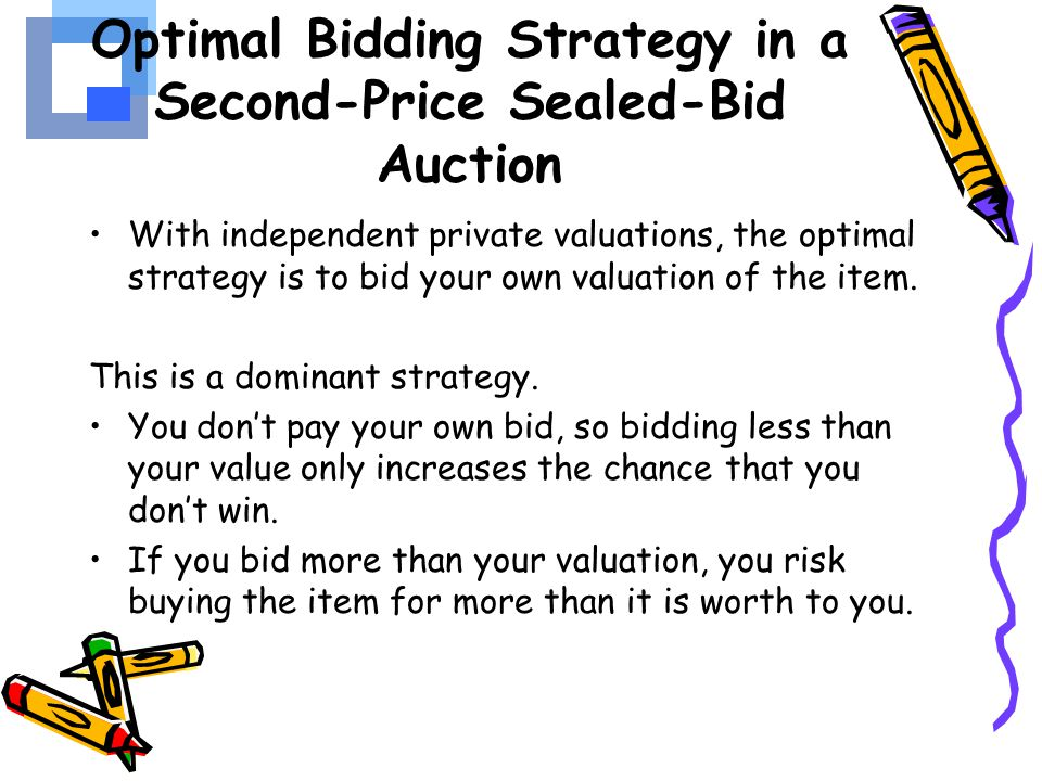 Optimal Bidding Strategy in a Second-Price Sealed-Bid Auction