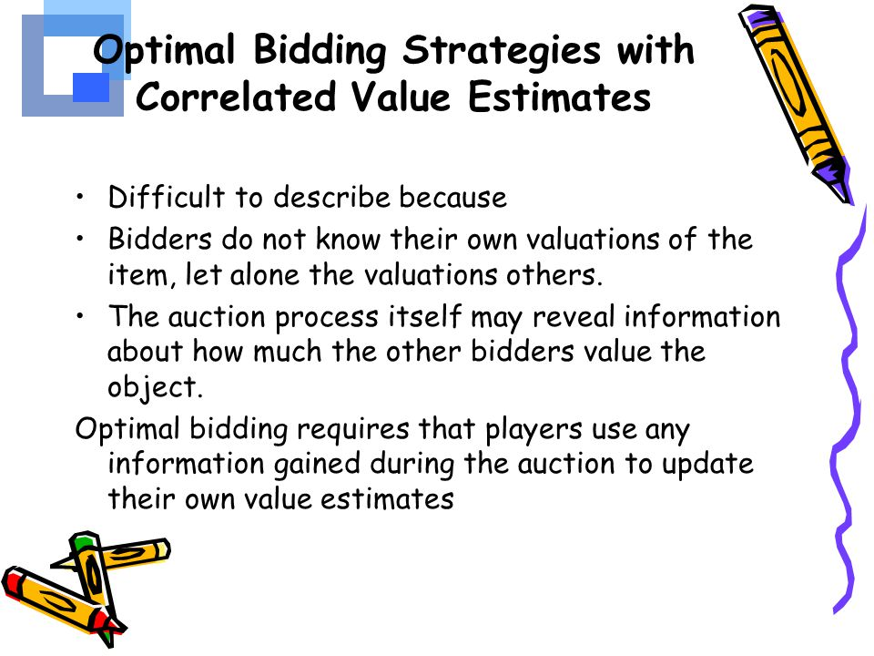 Optimal Bidding Strategies with Correlated Value Estimates