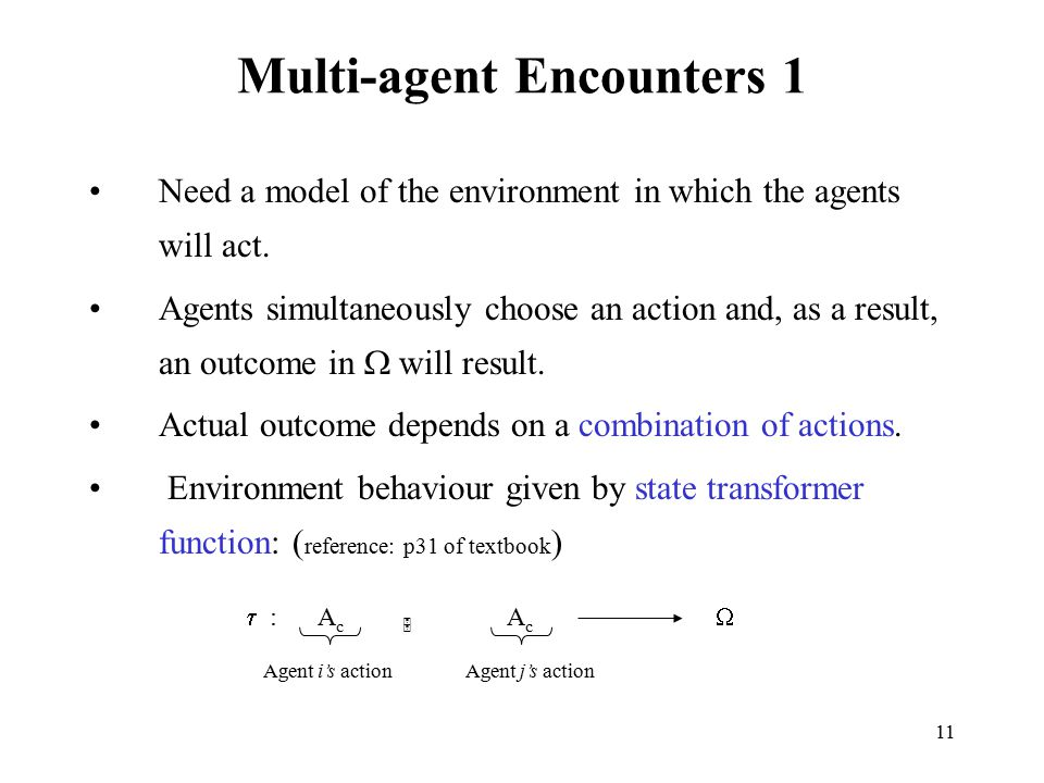 Multi-agent Encounters 1