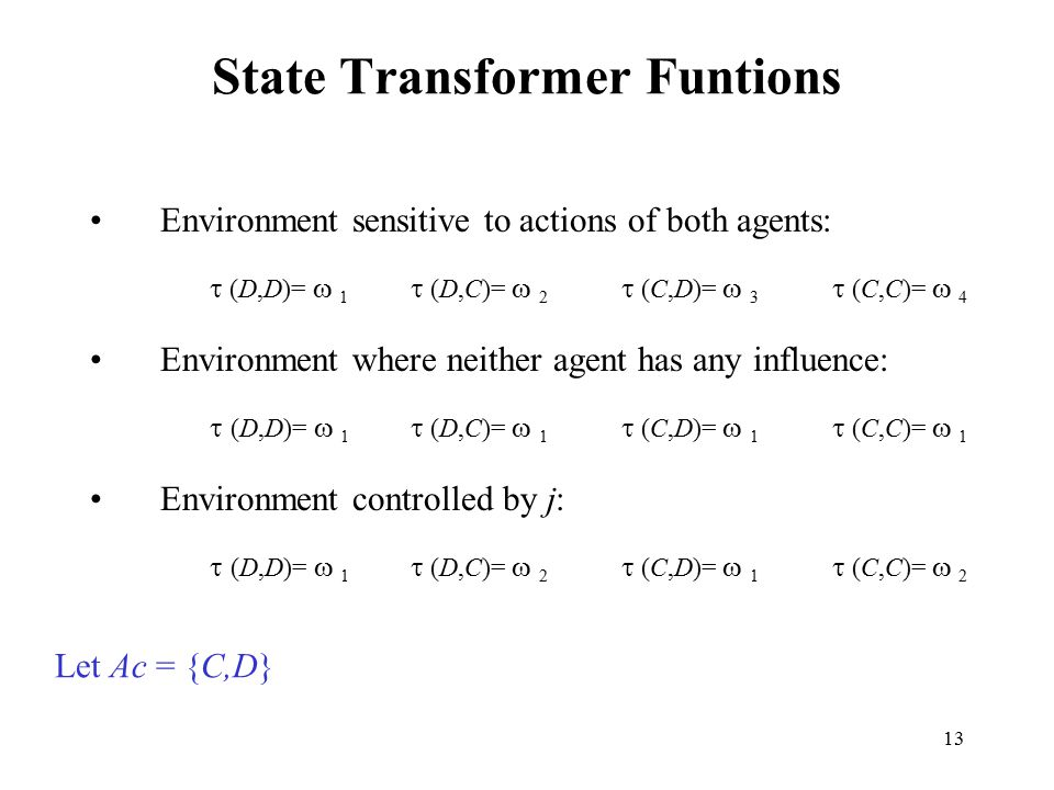 State Transformer Funtions