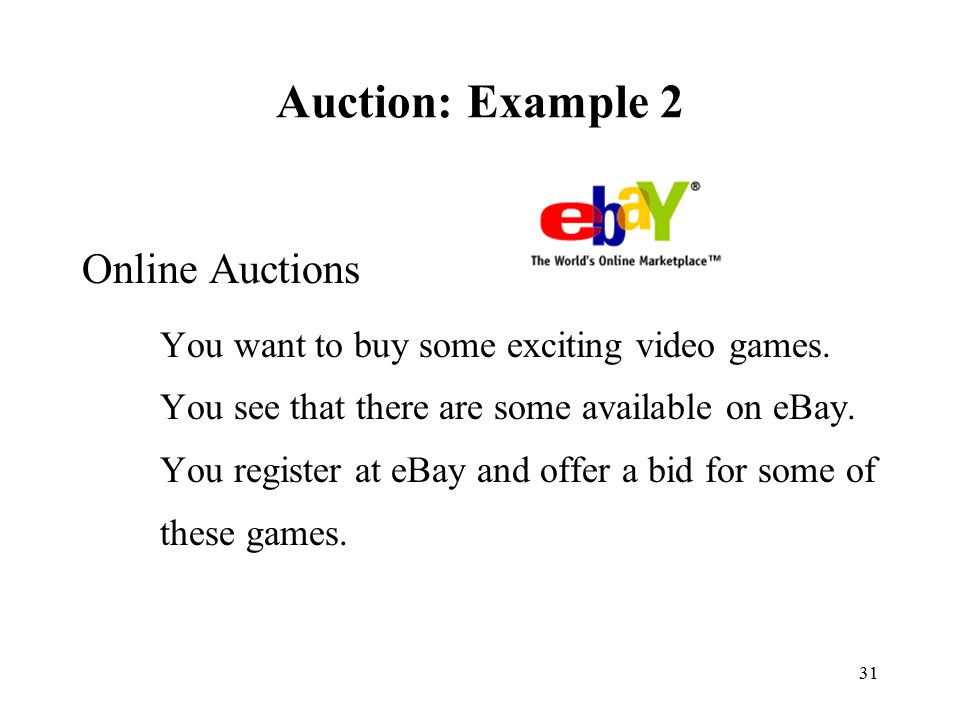 Auction: Example 2 Online Auctions