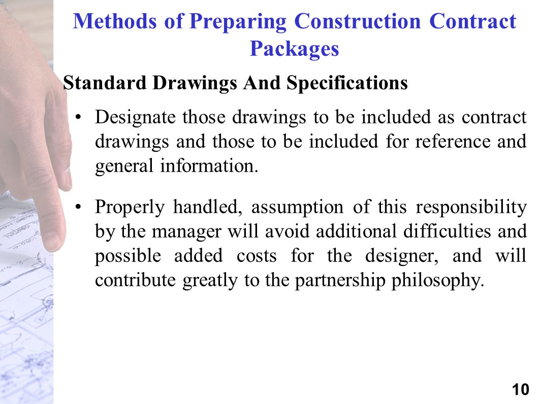 Methods of Preparing Construction Contract Packages