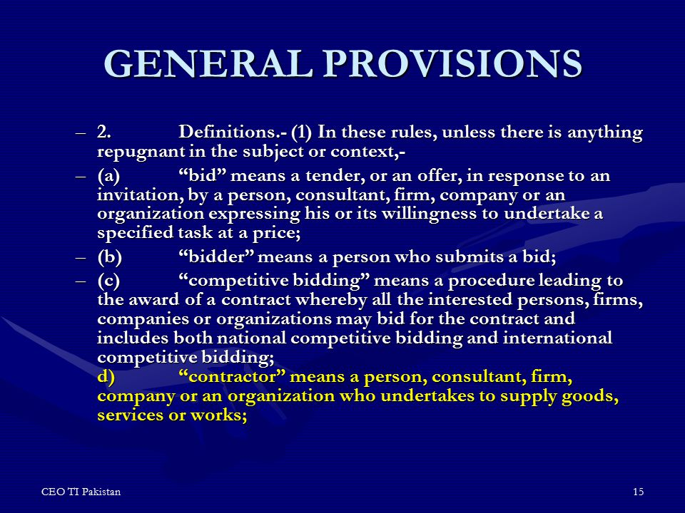 GENERAL PROVISIONS 2. Definitions.- (1) In these rules, unless there is anything repugnant in the subject or context,-