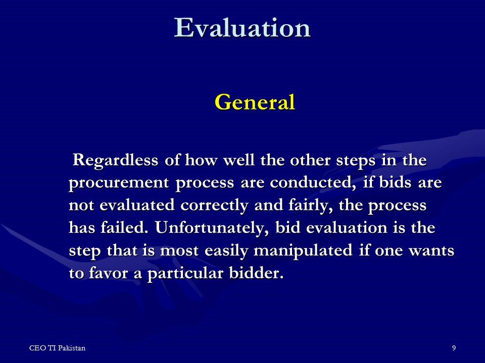 Evaluation General.