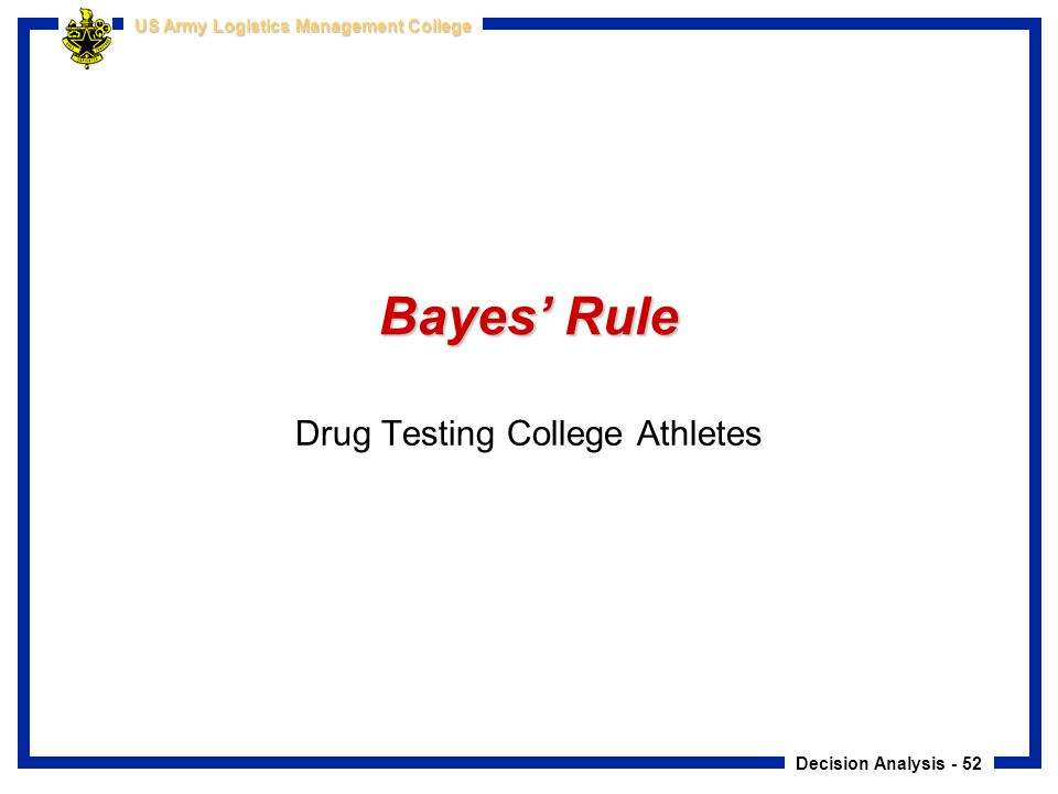 Drug Testing College Athletes