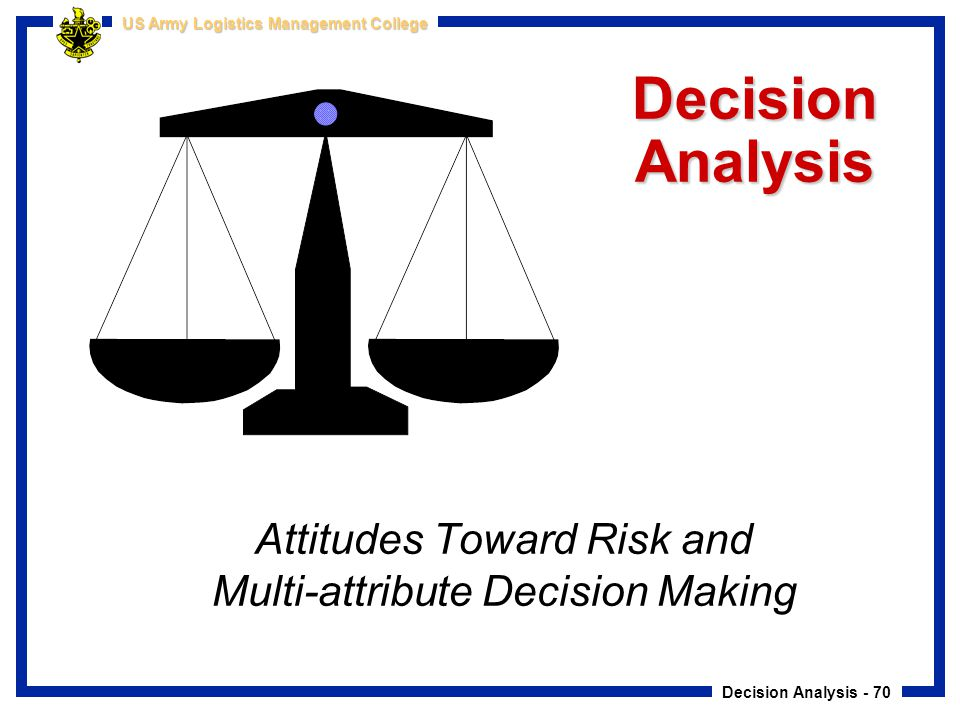 Attitudes Toward Risk and Multi-attribute Decision Making