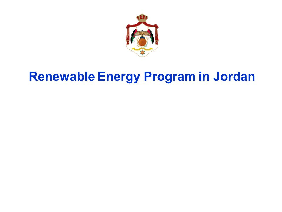 Renewable Energy Program in Jordan