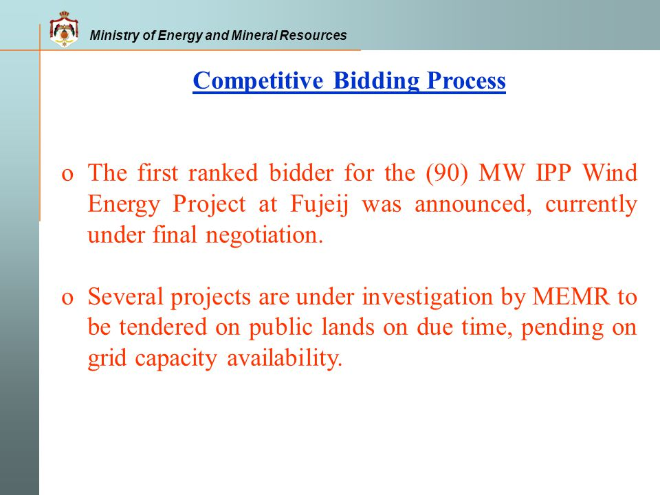 Competitive Bidding Process
