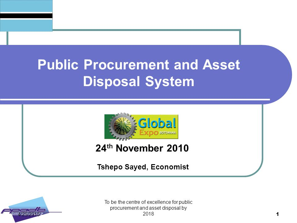 Public Procurement and Asset Disposal System