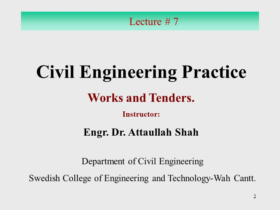 Civil Engineering Practice