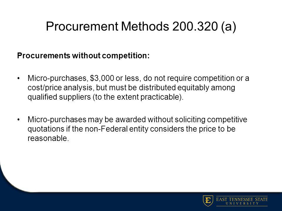 Procurement Methods 200.320 (a)