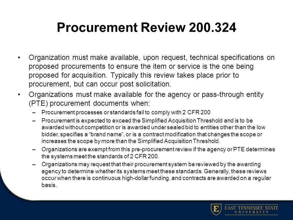 Procurement Review 200.324