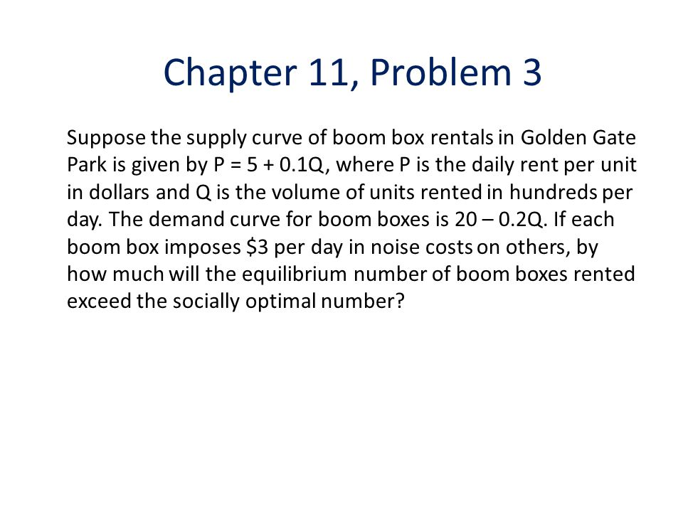 Chapter 11, Problem 3