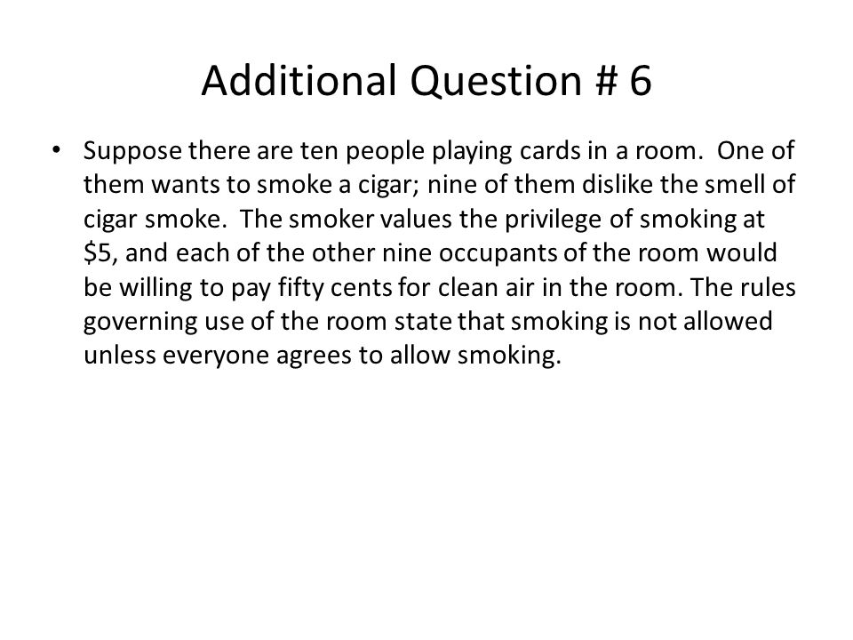 Additional Question # 6