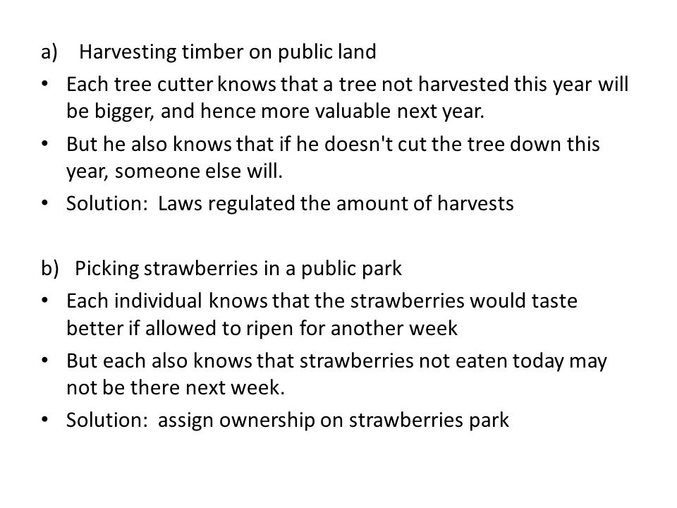 Harvesting timber on public land