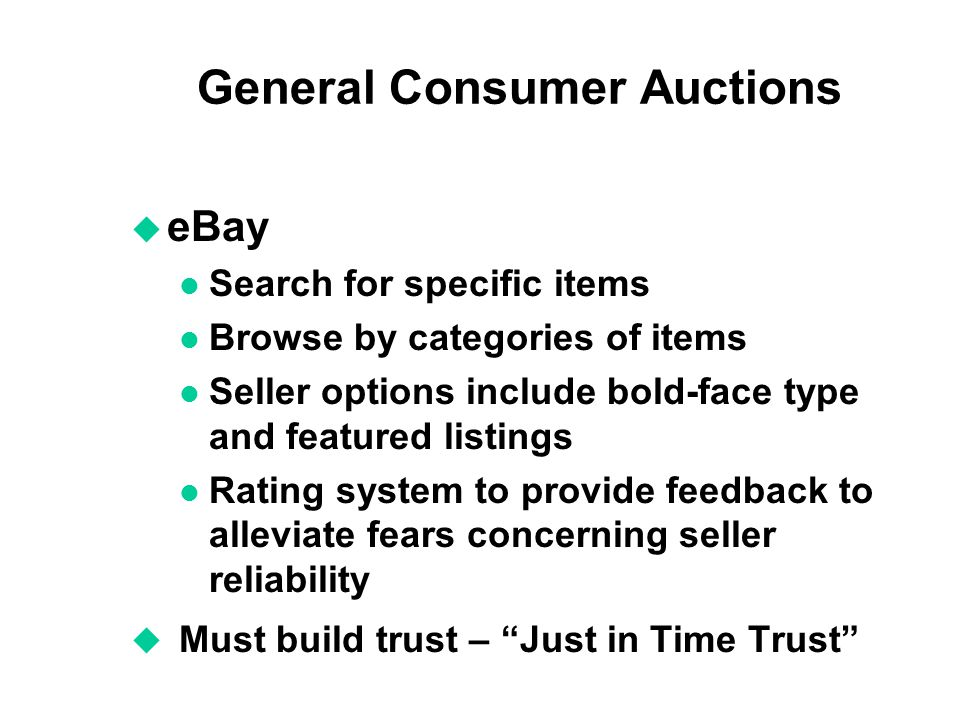 General Consumer Auctions