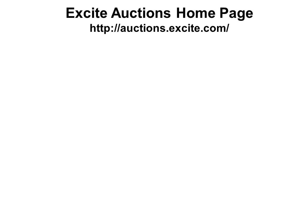 Excite Auctions Home Page