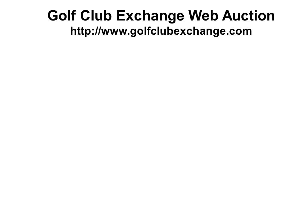 Golf Club Exchange Web Auction