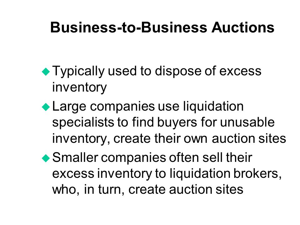 Business-to-Business Auctions